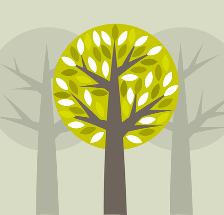 Trees background. Vector illustration Vector