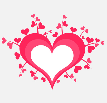 overgrown: Cute heart label. Vector illustration