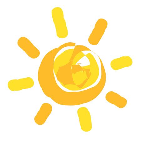 Sun painted.