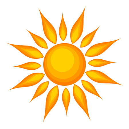 Sun over white background.