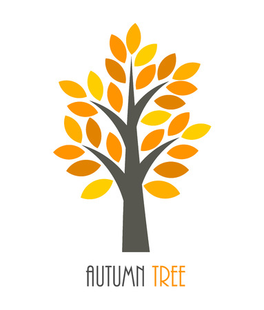 Autumn tree icon. Vector illustration Ilustracja