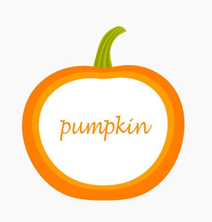 Pumpkin label. Vector illustration Illustration