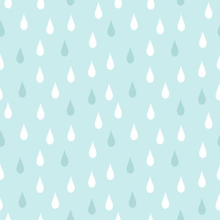 reapeating: Rain. Seamless vector pattern Illustration