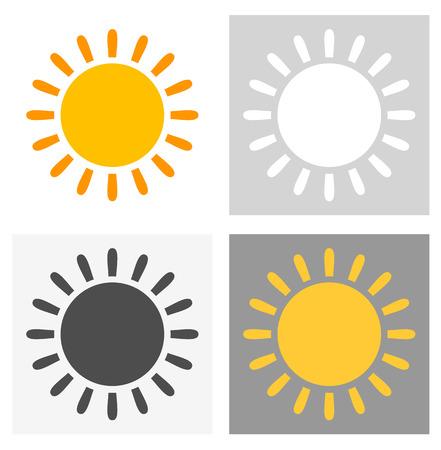 Set of suns. Vector illustration Vector