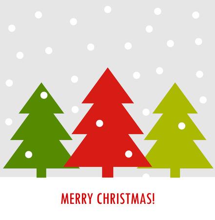 simple: Christmas trees card.