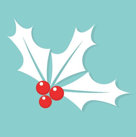 aquifolium: White Christmas symbol holly berry.