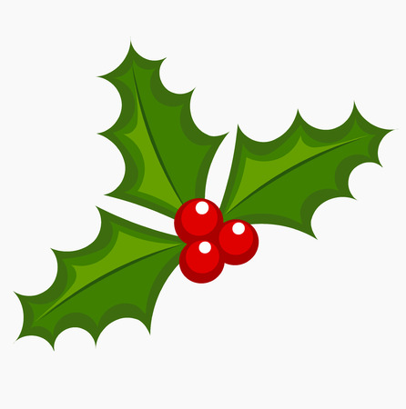 holly leaves: Holly berry icon.