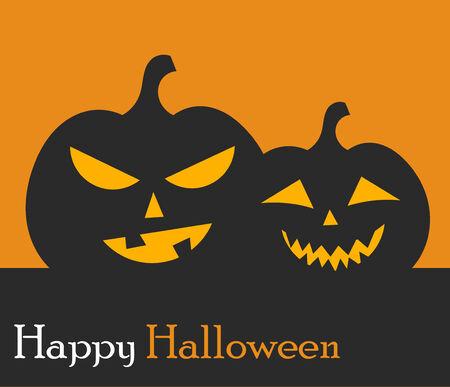 jack o: Jack o lantern Halloween pumpkins background. Vector illustration Stock Photo