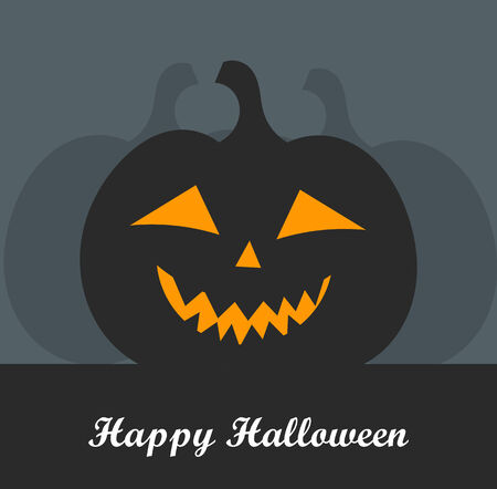 jack o: Halloween Jack o lantern pumpkin. Vector illustration Stock Photo