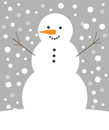 Snowman. Christmas vector illustration Vector