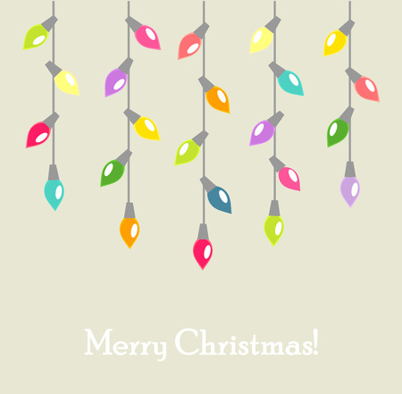 Christmas lights background. Vector illustration