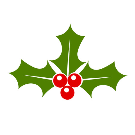 aquifolium: Holly berry icon vector