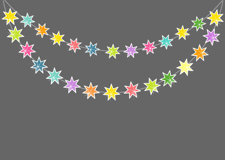 string of christmas lights: Christmas lights background. Stars string vector illustration