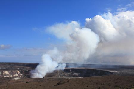 kilauea: Hawaii volcanoes National Park - crater on the caldera Halemaumau. Kilauea volcano