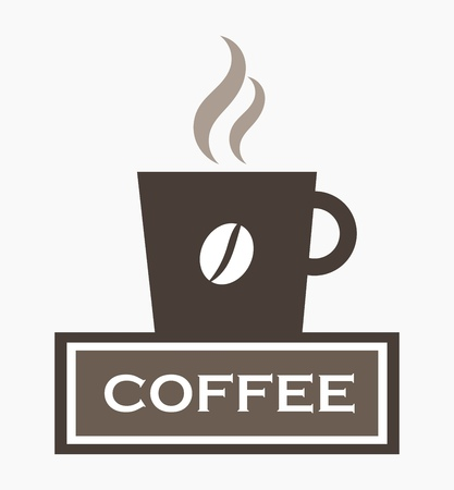 coffee cup vector: Coffee cup sign. Vector illustration