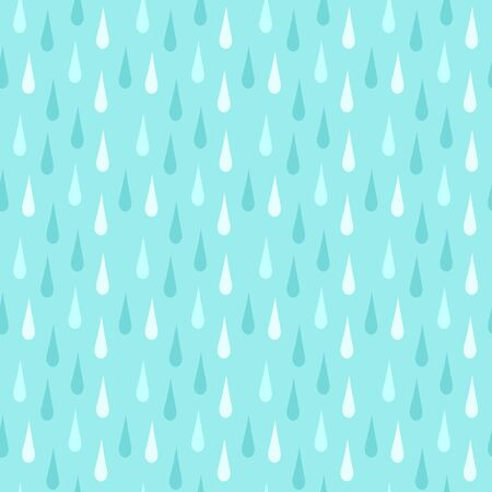 Rain. Seamless vector pattern  イラスト・ベクター素材