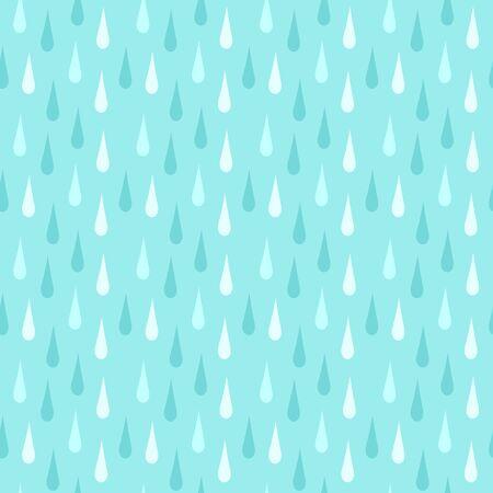 Rain. Seamless vector pattern Vector