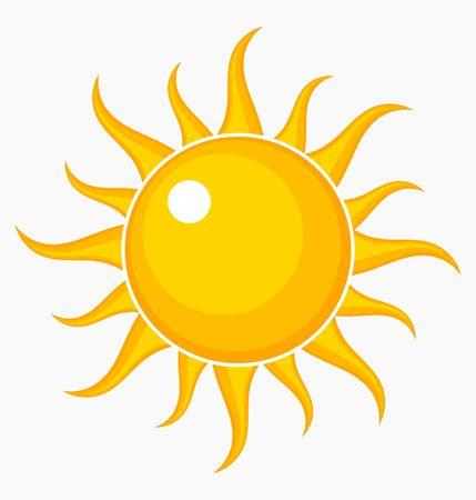 sol caricatura: Icono de Sun. Ilustración vectorial