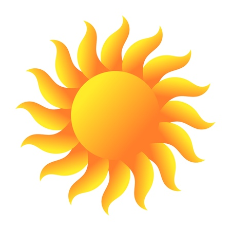sol: Sun. Vector illustration