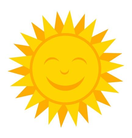 soleil souriant: Sourire soleil. Vector illustration