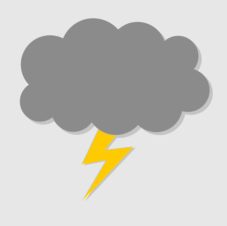 illustratin: Bolt cloud. Vector illustration