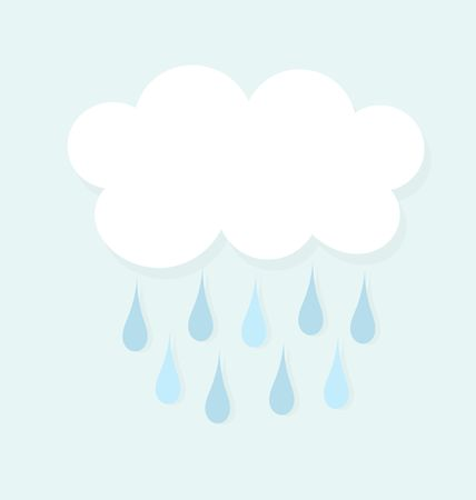 raining: Raining cloud icon. Vector illustration Illustration