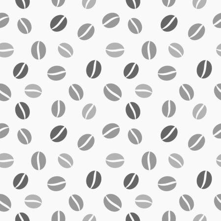 coffea: Coffee beans seamless vector texture