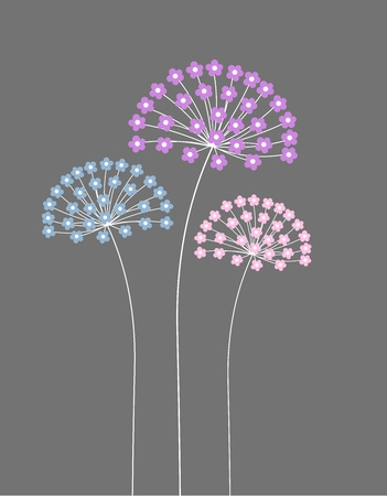 floral vectors: Flowers. Vector illustration Illustration
