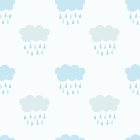 raining: Raining clouds seamless patters. Vector illustration Illustration