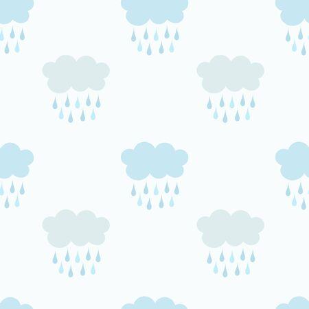 raining: Raining clouds seamless patters. Vector illustration Illustration