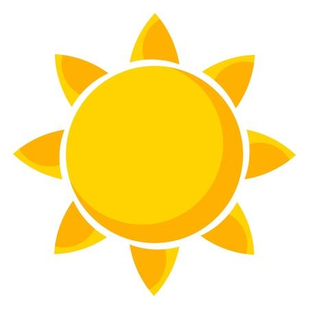 sol radiante: Domingo Ilustración vectorial