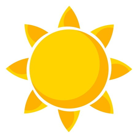 luz solar: Sun. Ilustração do vetor
