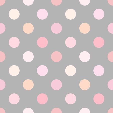 Dusty pink polka dot seamless pattern. Vector illustration