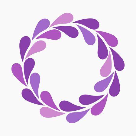 purple wreath: Purple flower petals wreath. Vector illustration