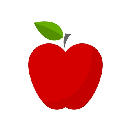Red apple icon. Vector illustration Vettoriali