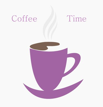 symbolic: Coffee time. Symbolic vector cup of coffee