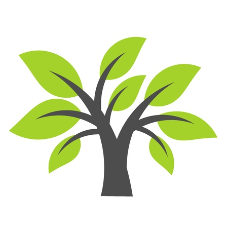 Tree symbol. Vector illustration Illustration