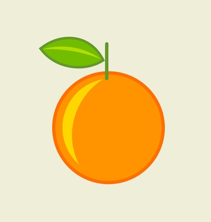 Orange fruit icon. Vector illustration