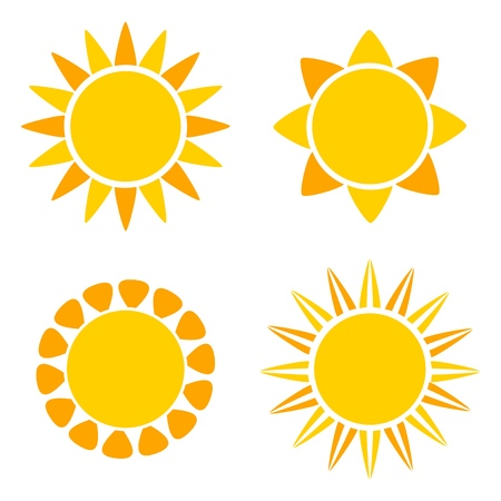 Suns icons. Vector illustration