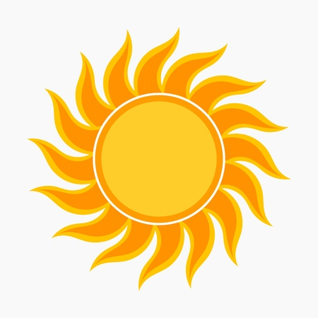 sunny season: Sun vector illustration
