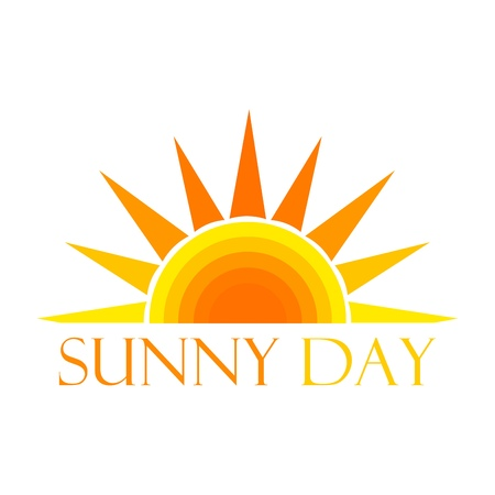 Sun symbol. Vector illustration