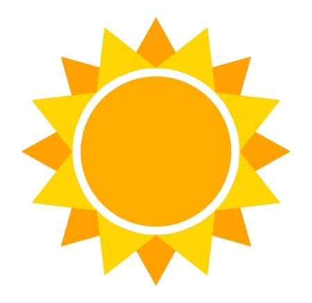 estrella caricatura: Icono de Sun. Ilustraci�n vectorial