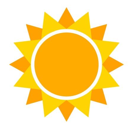 Sun icon. Vector illustration Banco de Imagens