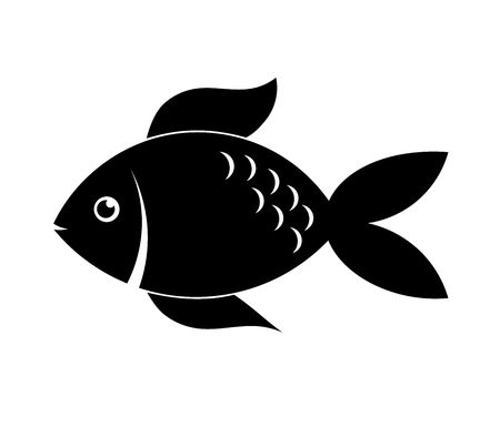 fish silhouette: Fish silhouette. Vector illustratio Stock Photo