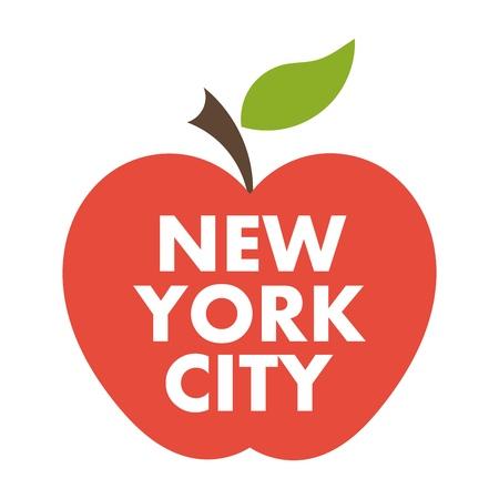 manzana: Gran Manzana. Nueva York s�mbolo de la ciudad de vectores
