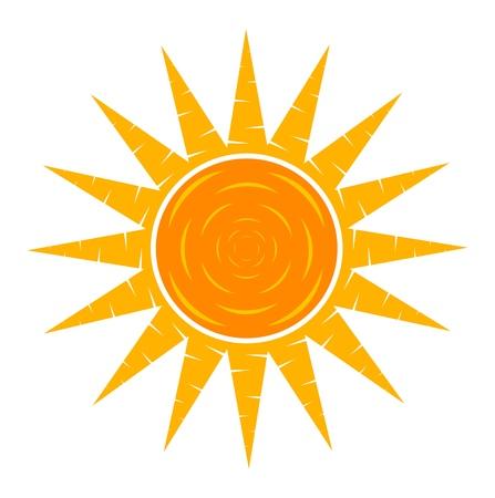 bright sun: Sun. Vector illustration