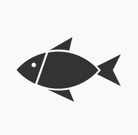 symbolic: Symbolic fish icon. Vector illustration