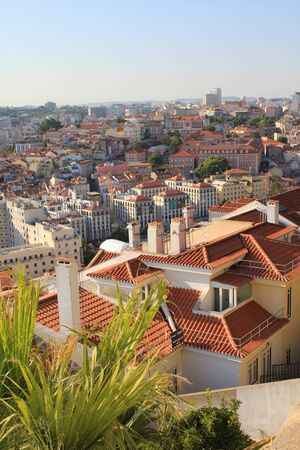 rooftops: View of rooftops in Lisbon, Portugal Stock Photo