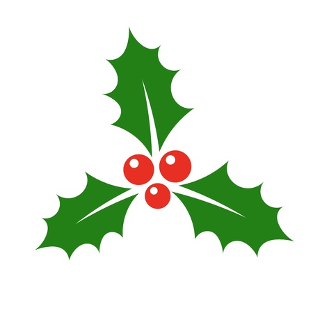 ホリー ベリー アイコン。クリスマス シンボル ベクトル イラスト