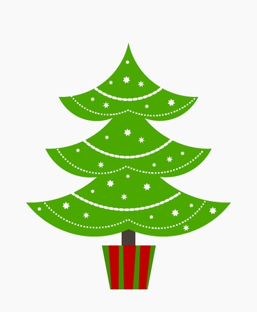 christmas backdrop: Christmas tree. Vector illustration